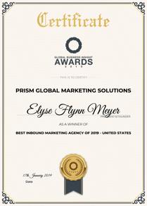 2019 Best Inbound Marketing Agency Image