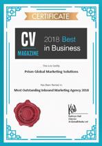 CV Magazine Best in Business 2018