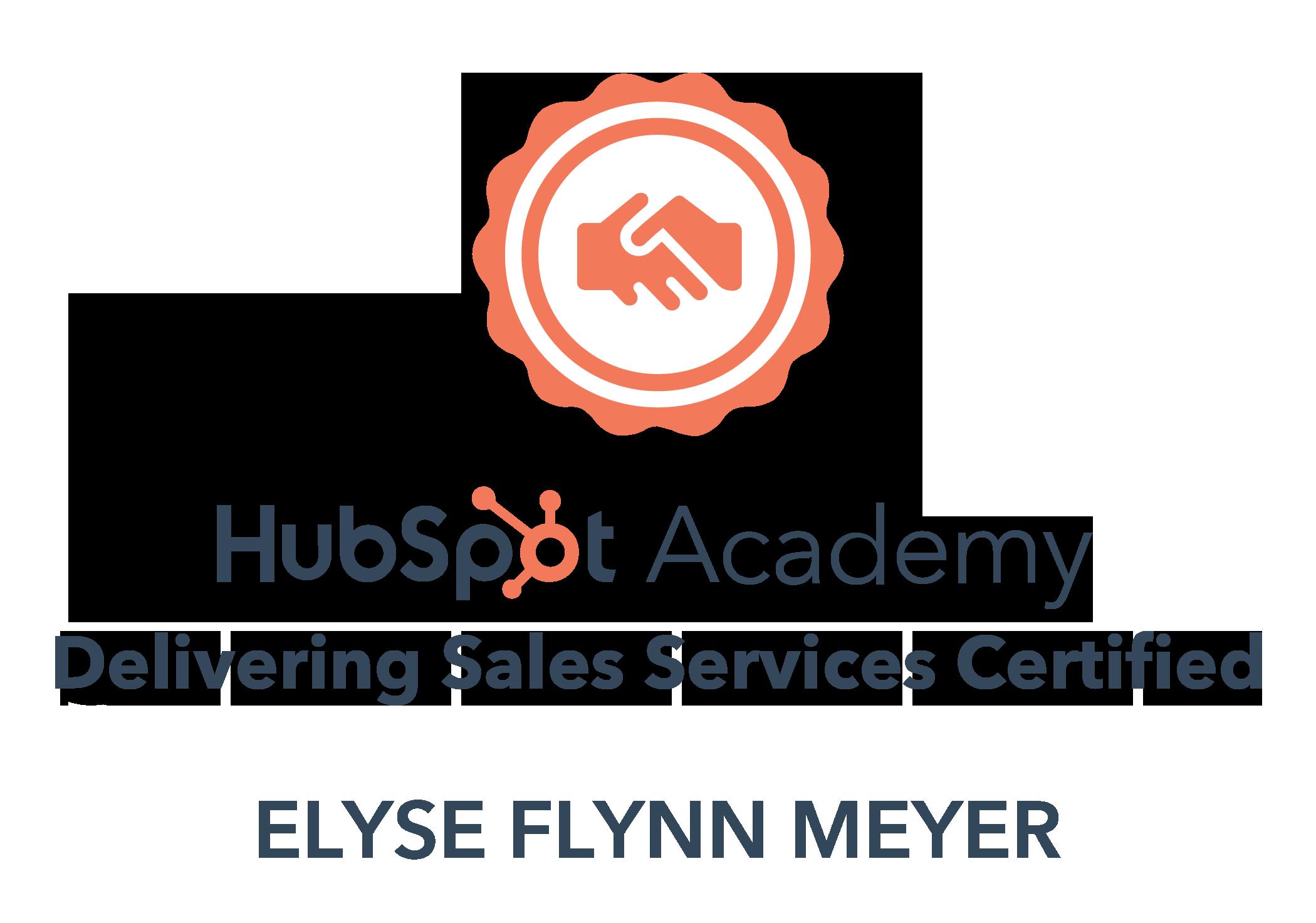 Delivering Sales Services Certification