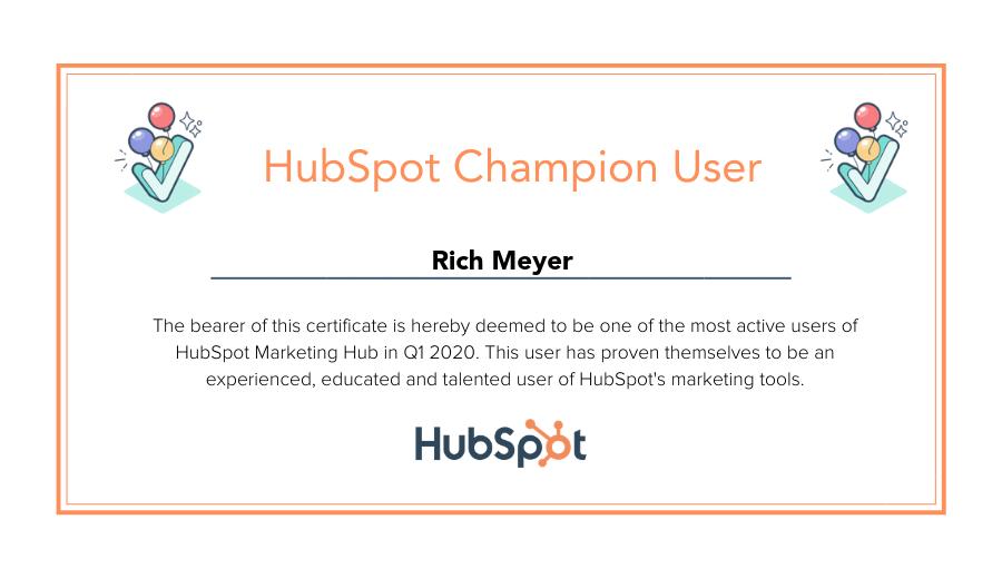 HubSpot Champion User