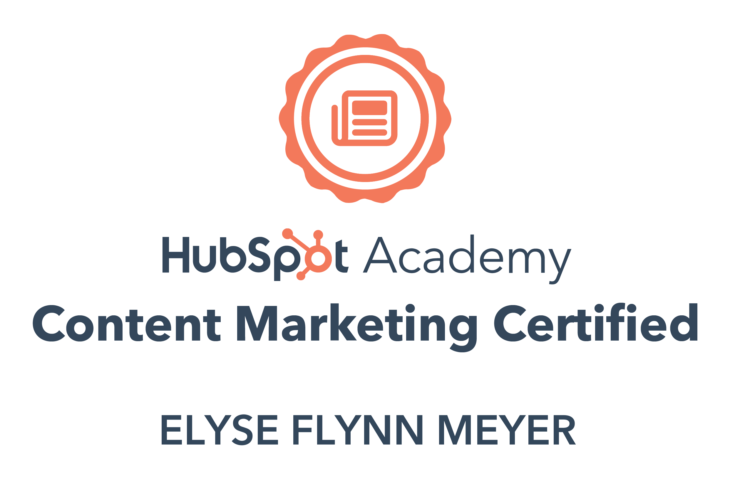 HubSpot Content Marketing Certifiction