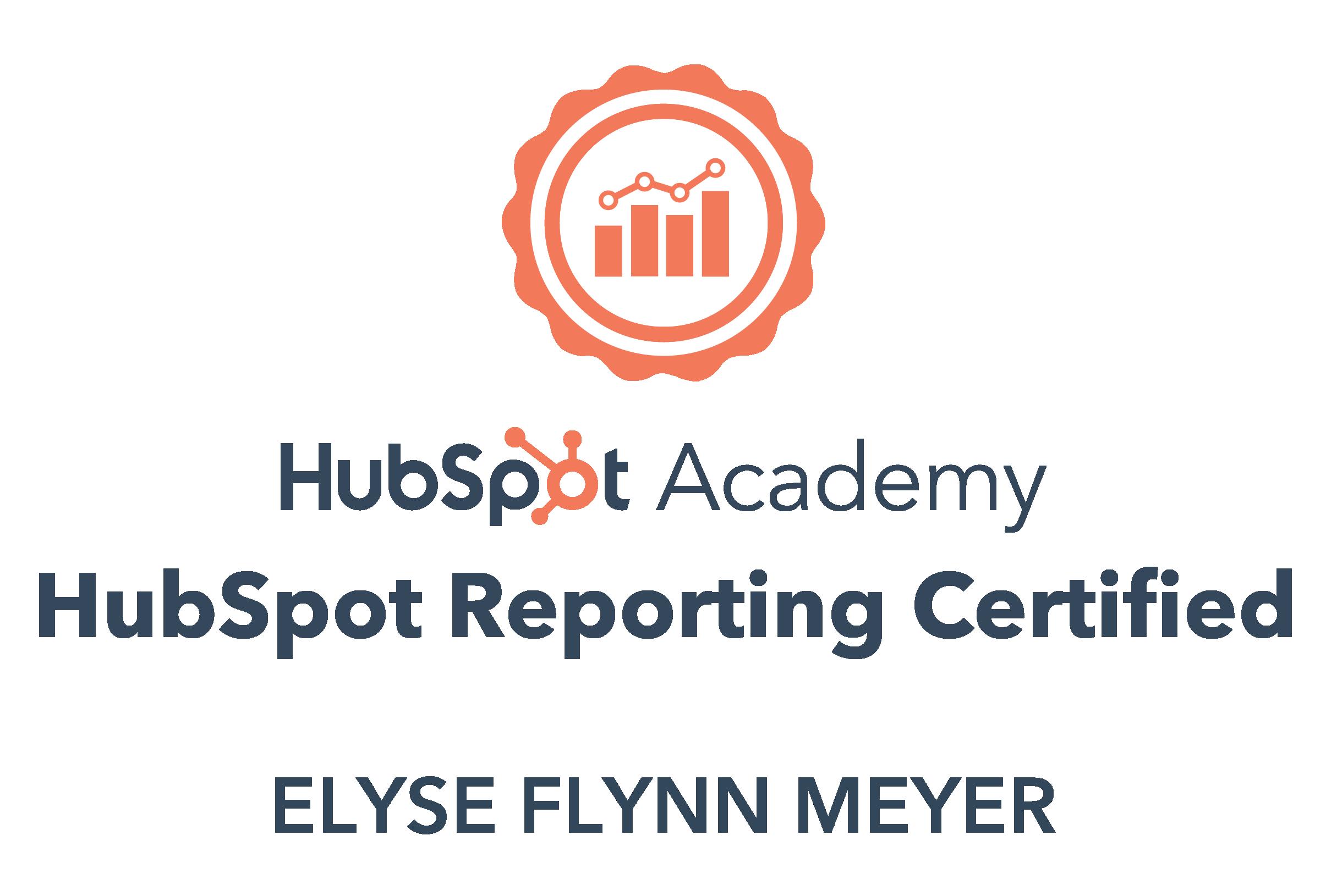 HubSpot Reporting Certification