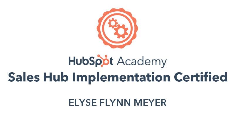 Sales Hub Implementation Certification